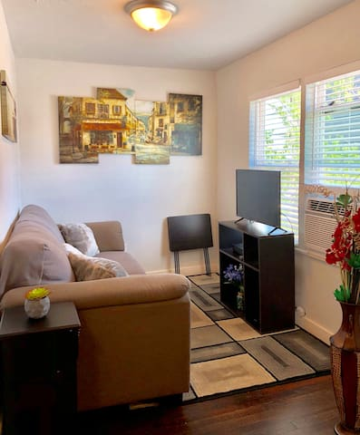 Cozy Living Area with AC, Cable TV, HBO & Showtime