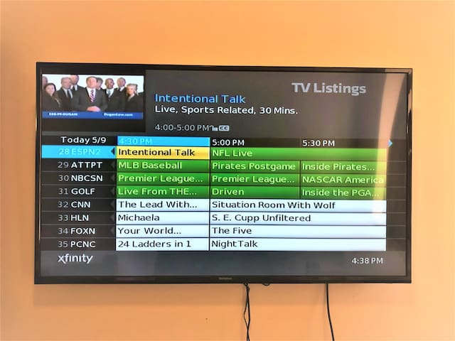 "Enjoy premium cable on a 50"" Smart TV!!"
