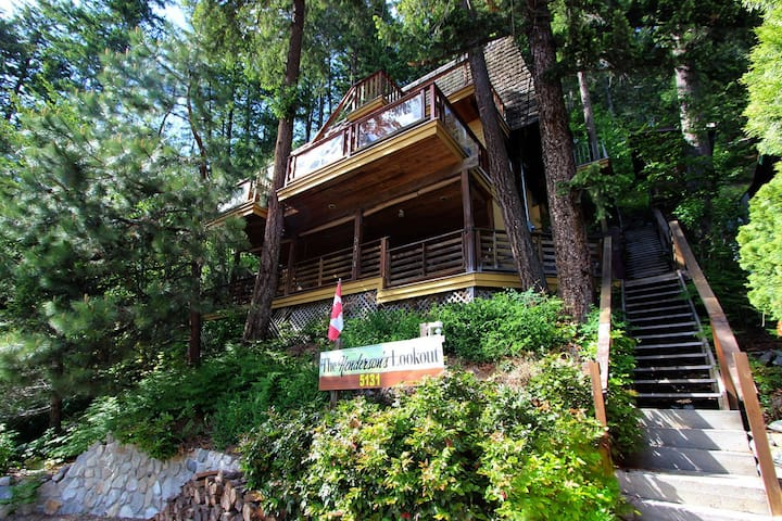 Semi-Lakefront Multilevel Cottage with Hot Tub