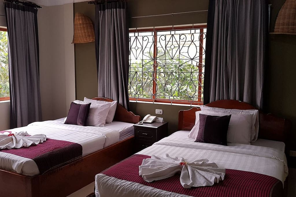 Newly refurbished rooms accommodating up to 4 people