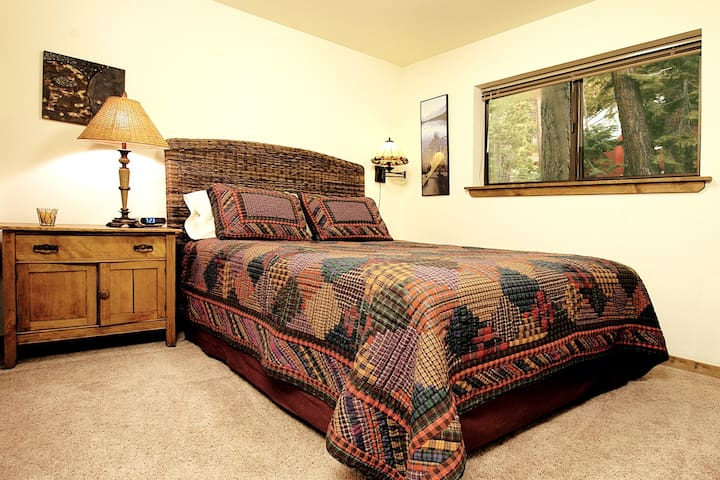one of the Queen bedrooms . on the Entry Level.