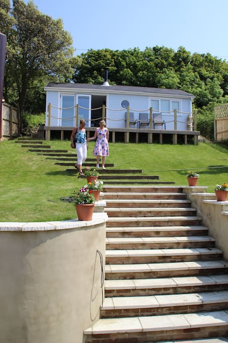 Beautiful chalet with truly stunning sea views of the Solent