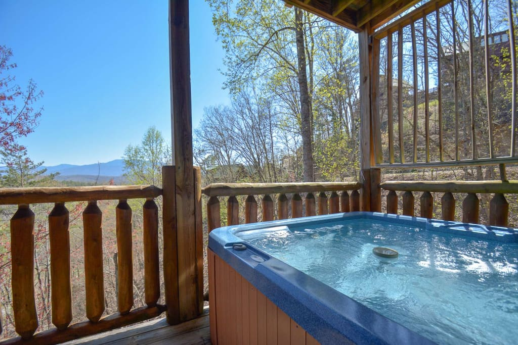 Come unwind in the hot tub after those long days of adventures!