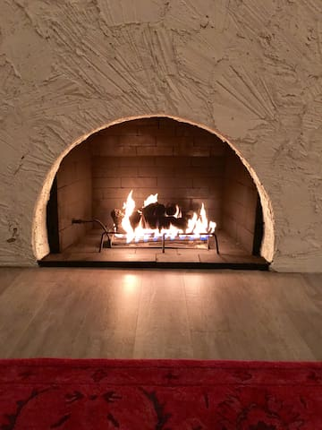 Enjoy the cozy gas fireplace in the winter time