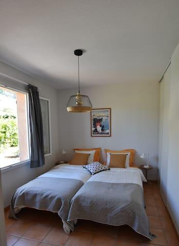 chambre 2 lits simples (2x90)