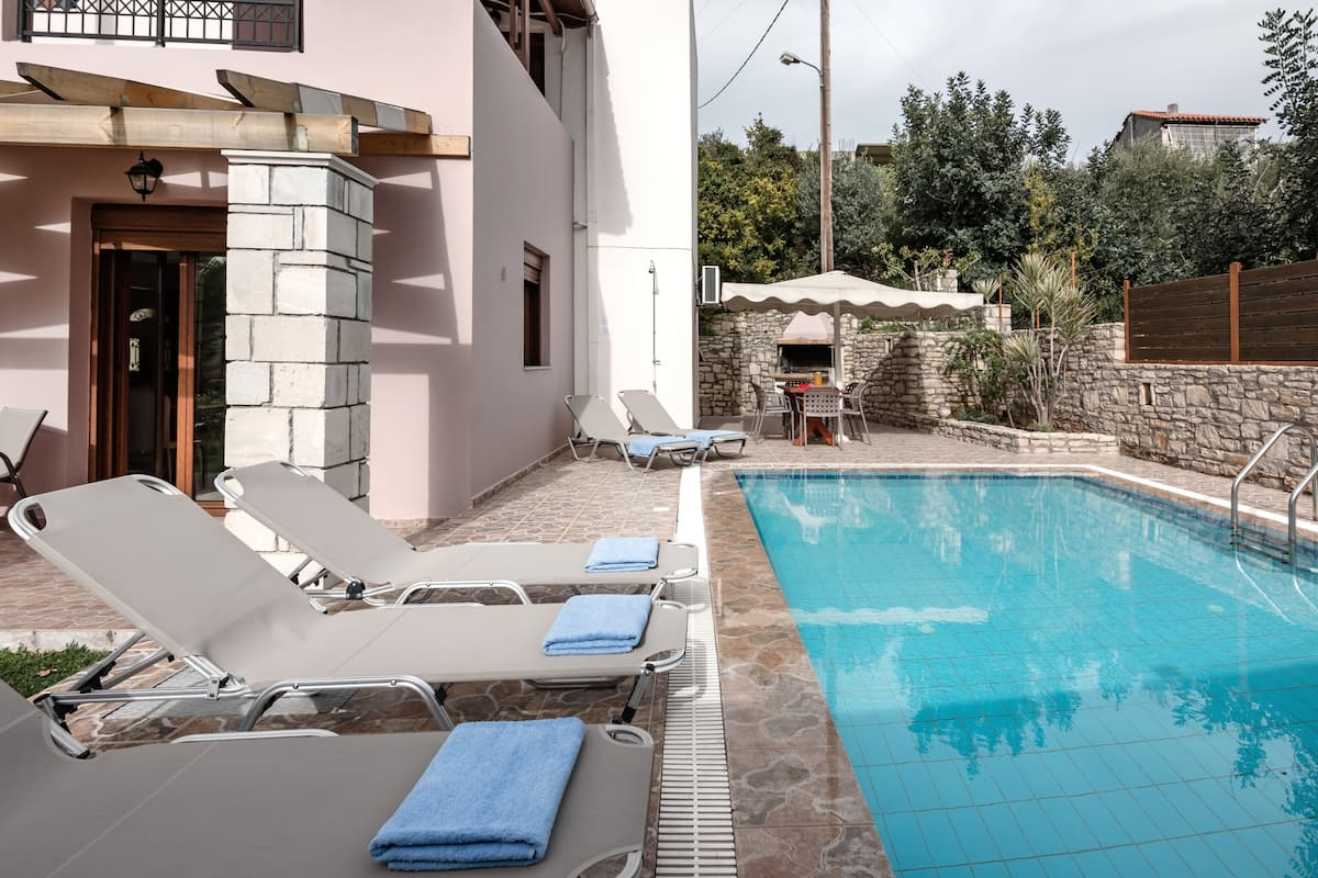 Gaze Over the Olive Groves from a Rural Villa with a Pool