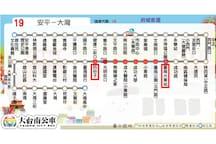 『19』台南火車站前站(南站)—約7站—>四份子站—>步行約3分鐘