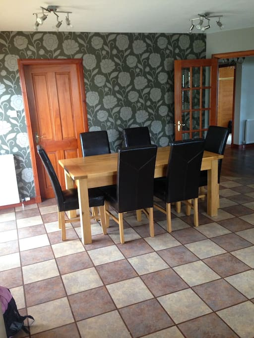Kitchen - Dining table can comfortably seat 6 people
