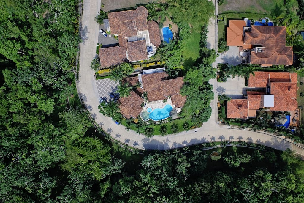 Aerial picture of the house