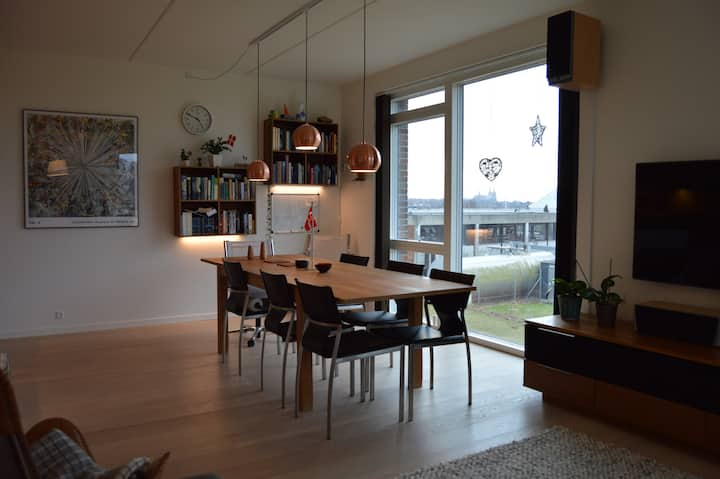 New apartment with nice view and close to Roskilde