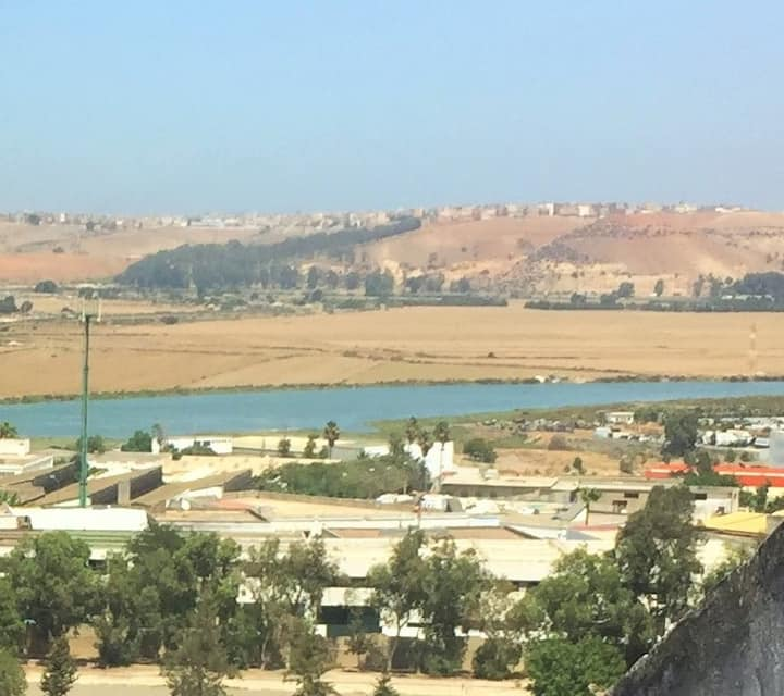 Magnificent vue on Rabat river in a large flat