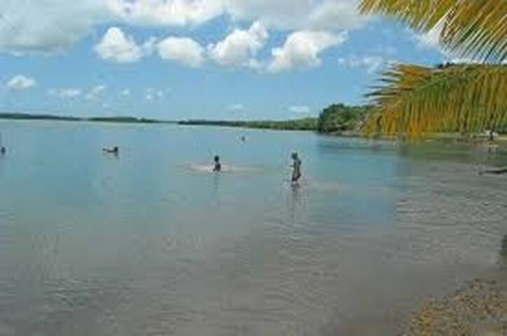 La plage de Babin très réputée pour ses bains de boue
