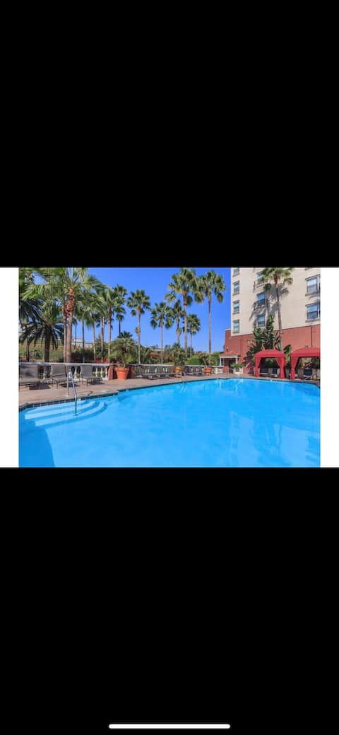LUXURY ROOM Downtown La-free-parking pool jacuzzi