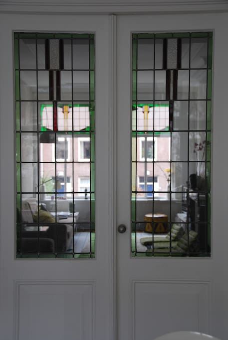 Antique doors livingroom