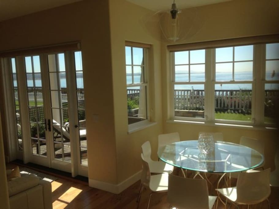 Entire 1st floor of the house faces the ocean, unobstructed views of the Bay.
