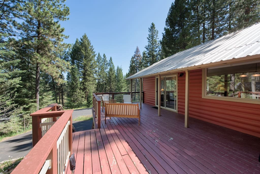 Expansive, north facing deck.  Furnishings and gas grill too.