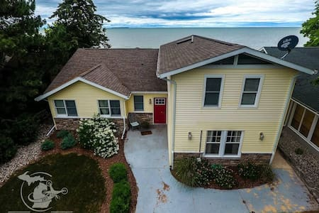 Amazing N. Shore Lakefront Home Beach,  Caseville