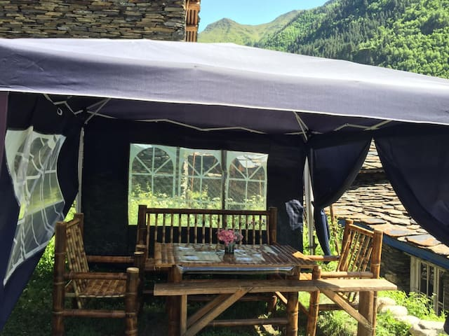 caucasus views,traditional cuisine,the best staff