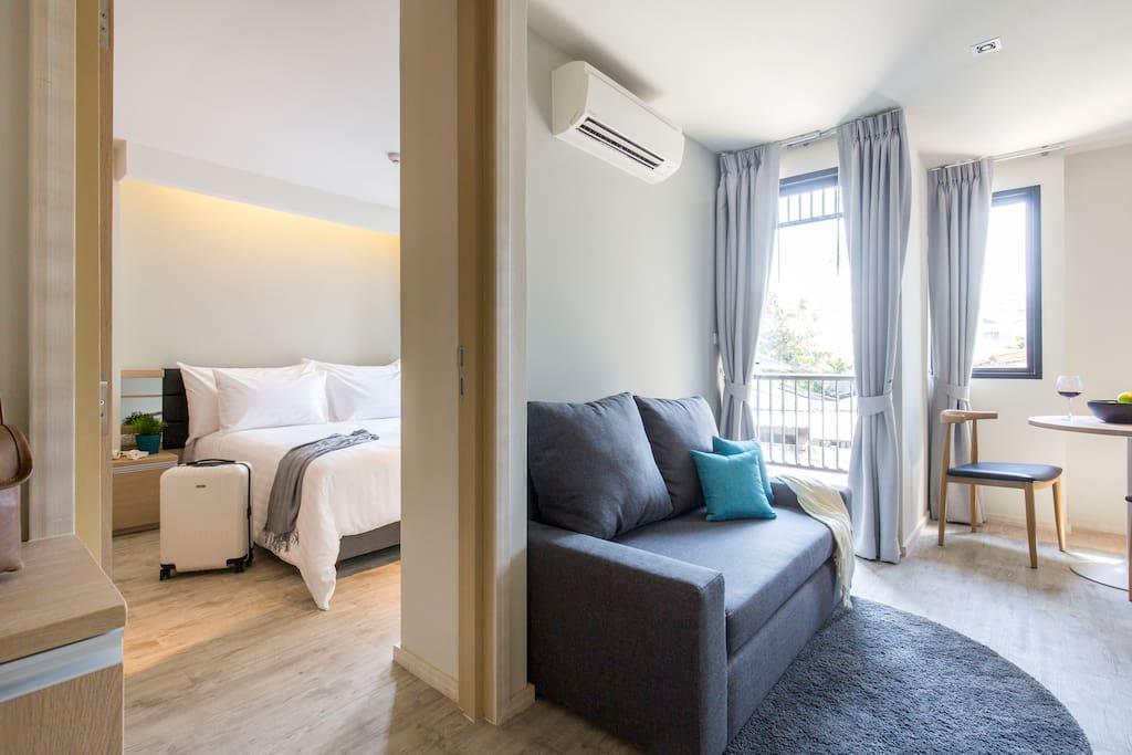 1 bedroom Studio Suite 38 sqm