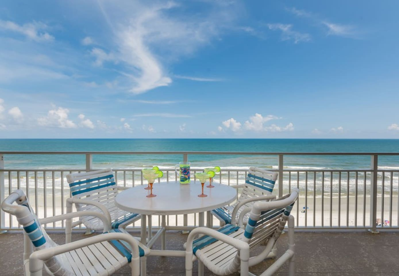 Ahhh paradise!  Sit back, relax and enjoy the oceanfront view from the wrap around balcony.