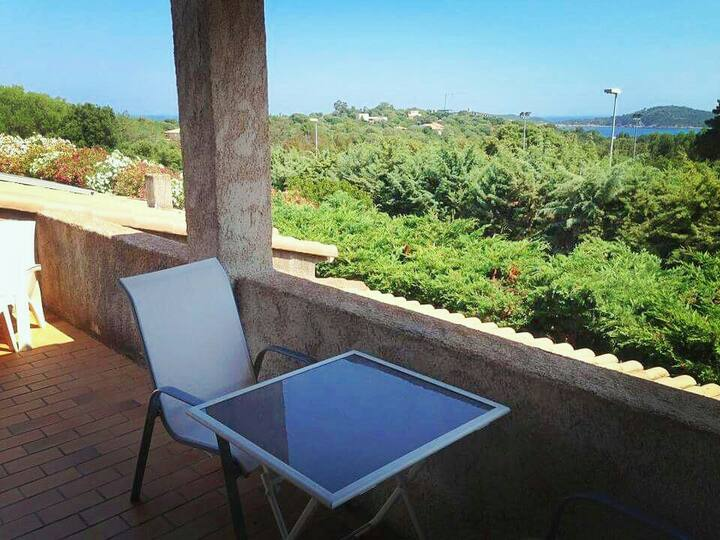 L'Alivu - Plages a pieds avec terrasse & vue mer