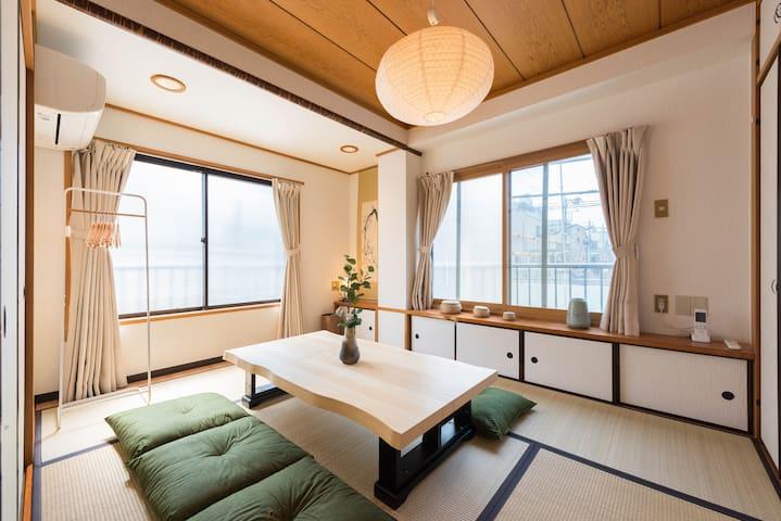 Free wifi/  Monzen-Nakacho station / Max6ppl