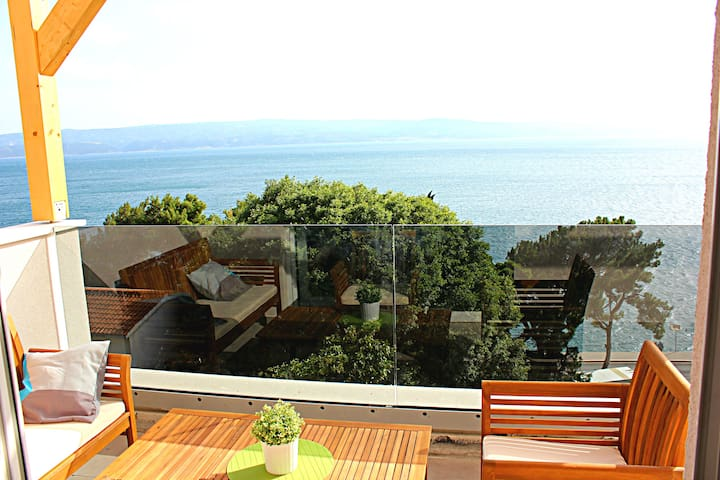 ❤★ Ap 3_E 60m2 apartment with sea view★❤ - Omiš - Apartemen