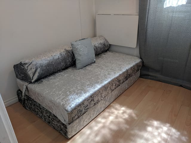 sofa bed in private room