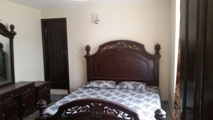 Private Double Bed Room with attached bath
