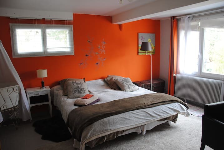 studio 30m2cosy, kitchenette,10km de lyon/sem/mois - Dardilly - Apartment