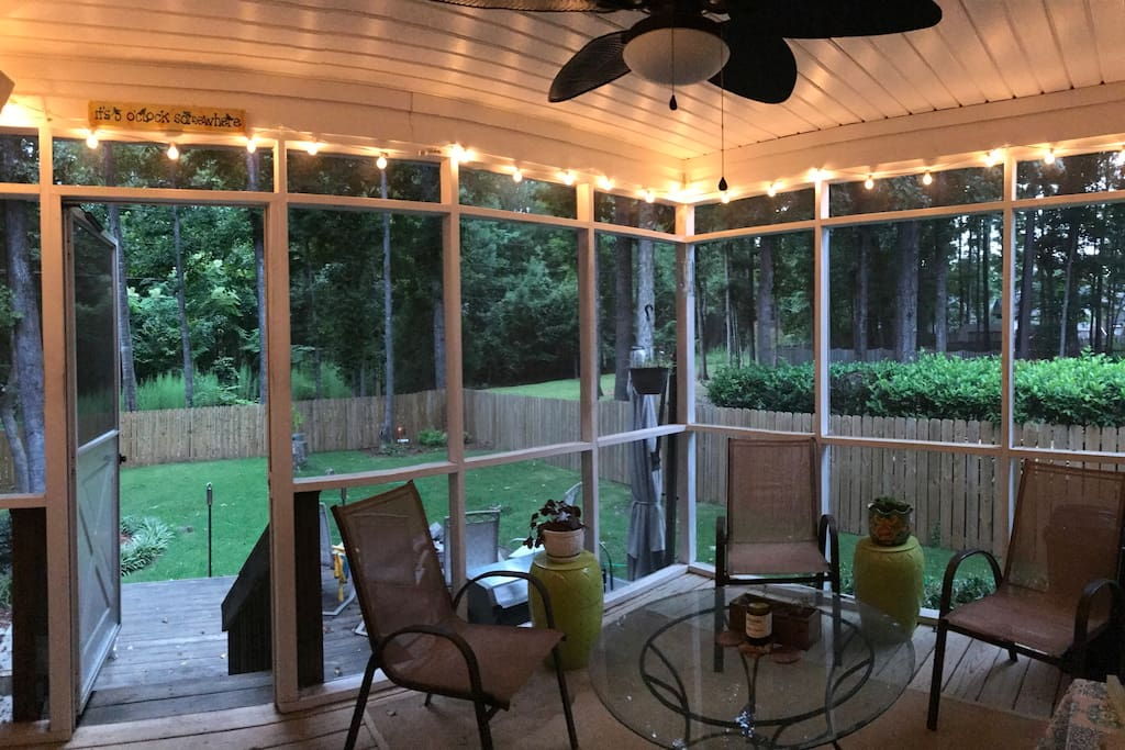 Great porch for entertainment and fun!