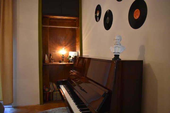 Piano apartment on main street Sirok Sokak