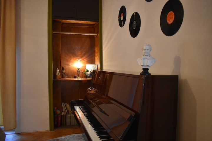 Piano apartment on main street Sirok Sokak