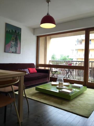 Jolie Appartement ensoleillé au centre de Divonne - Divonne-les-Bains - アパート