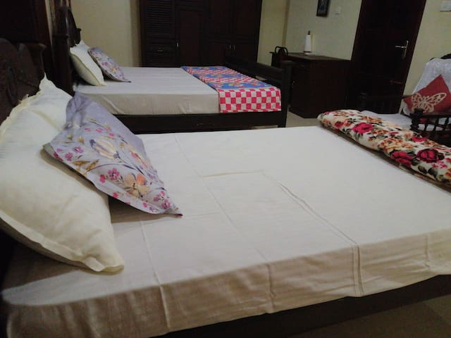 Room 1..King Bed and Double bed