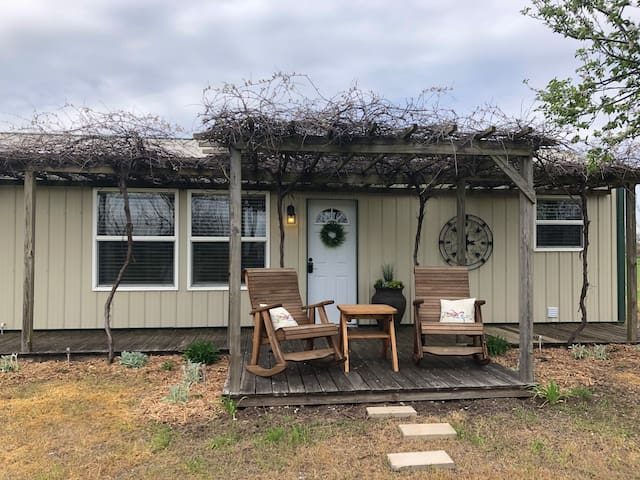 Cozy cottage surrounded by pecan orchard.