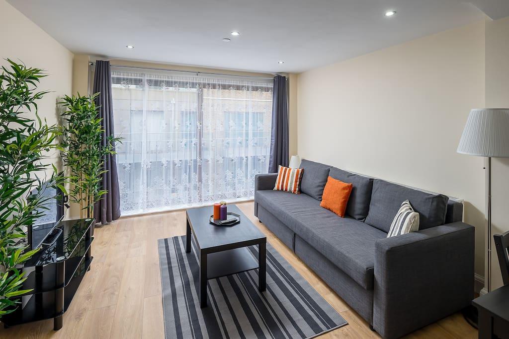 Large light living area