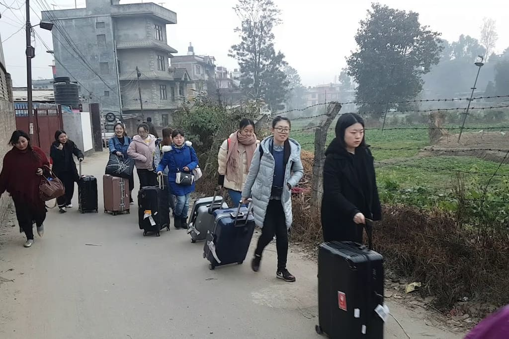 Group of chinese Tourist coming to our Guest House