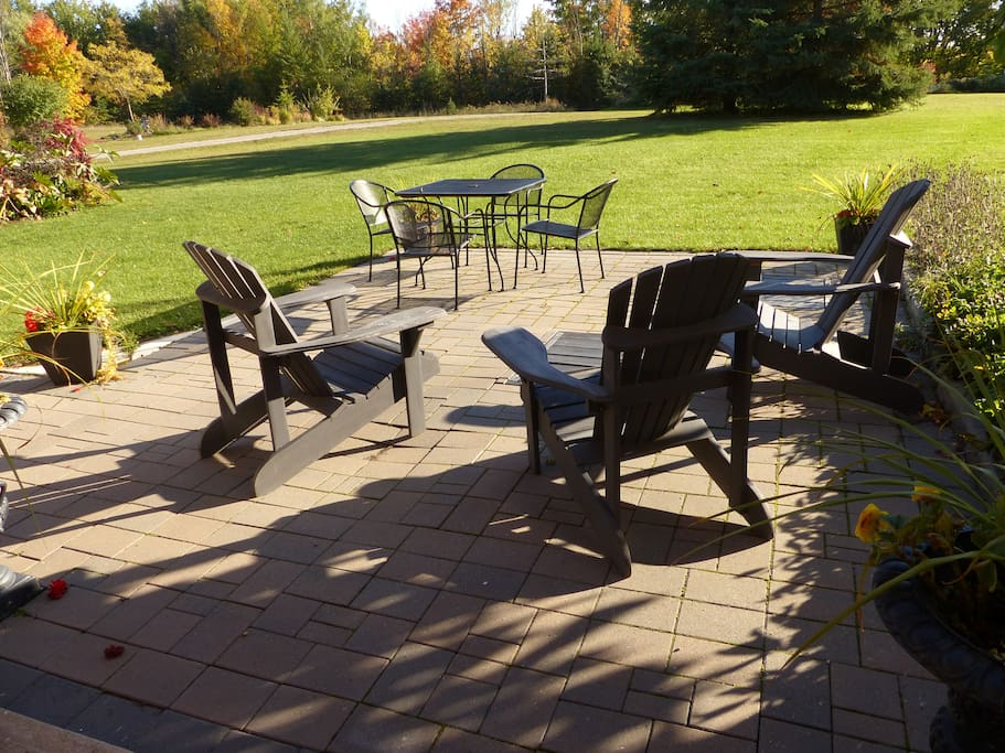 Sunny quiet patio to enjoy the sounds of nature