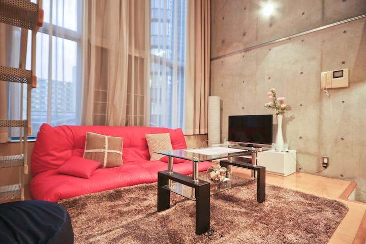 TokyoTower Modern Maisonette Room A - Minato-ku - Lägenhet
