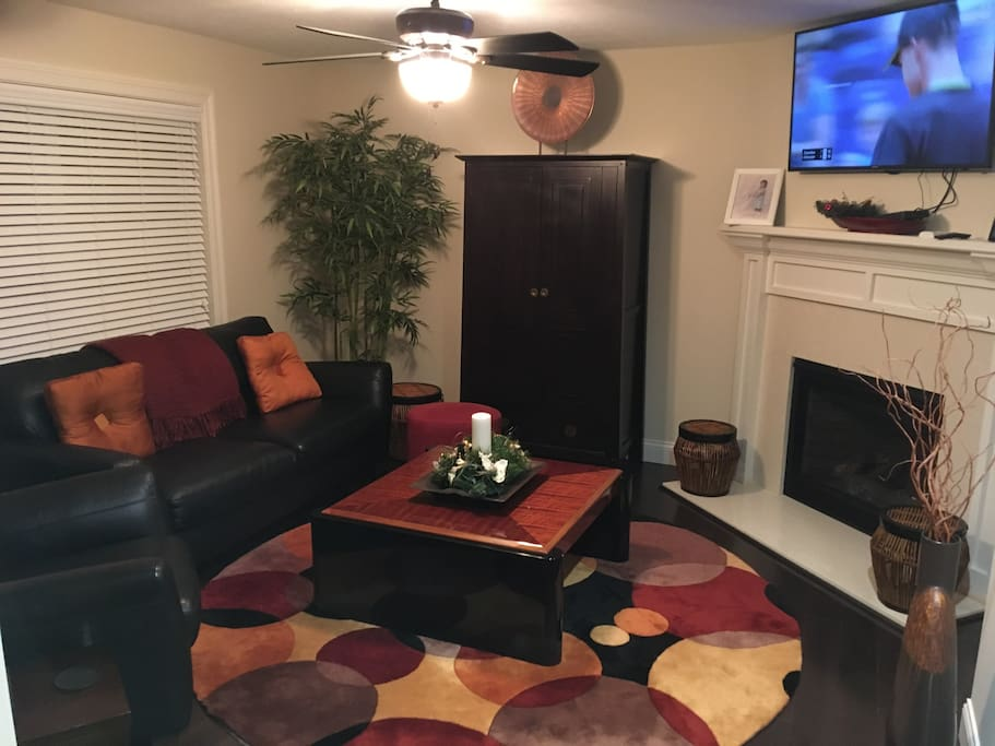 Living room with direct TV