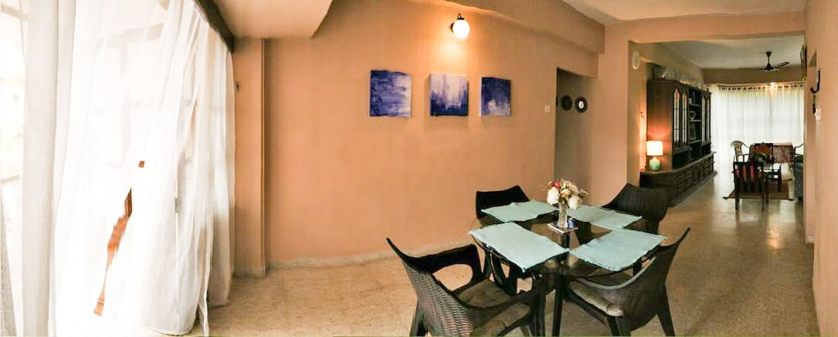 Relax at Goan apartment in the heart of Goa