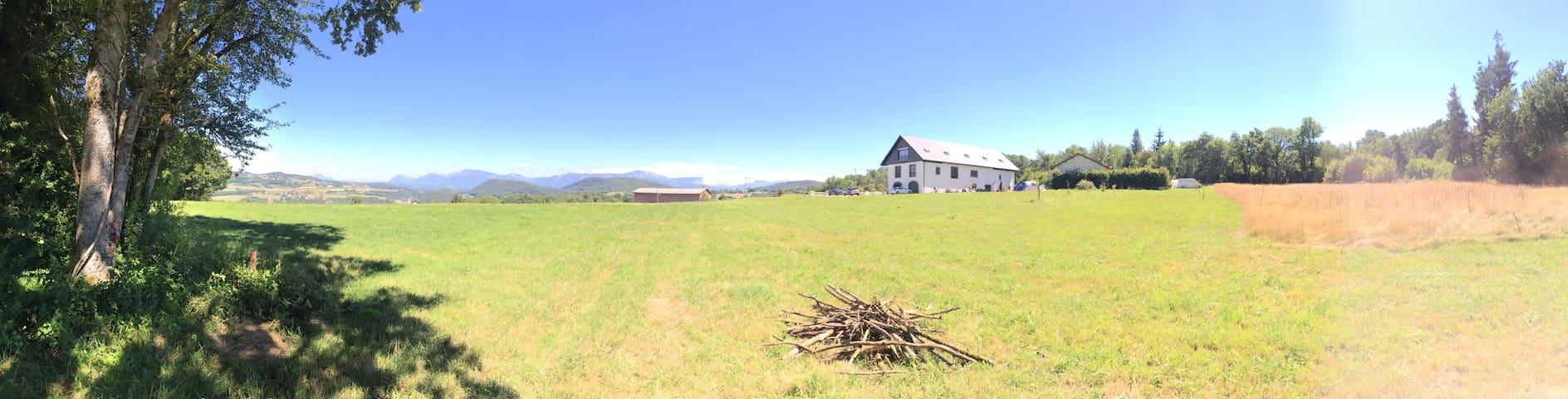 Vue des champs