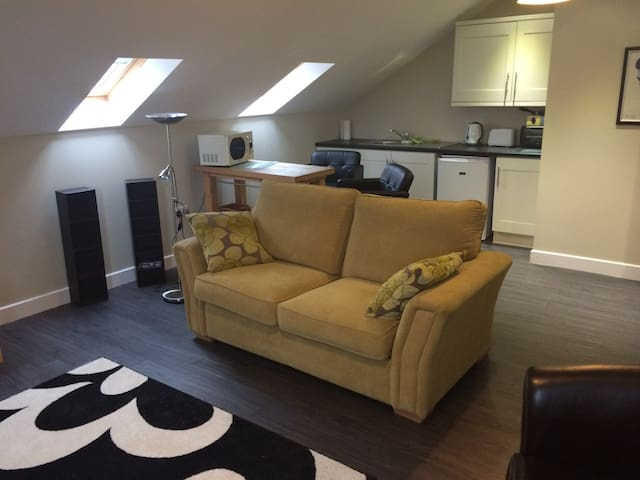Kitchen/lounge with sofa bed