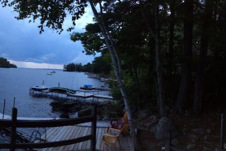 Island&Beach Views on BIG Sebago - Sebago - กระท่อม