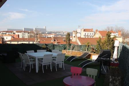Nid de 83 M2 sur toit terrase plein centre de Lyon - ลียง - อพาร์ทเมนท์