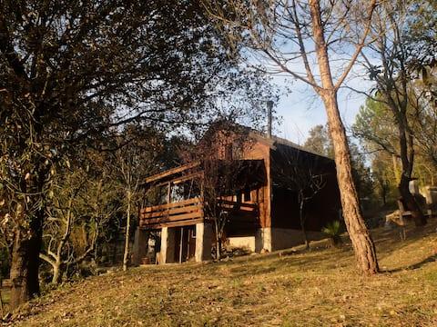 Casa de Madera en el Bosque. 6 plazas.