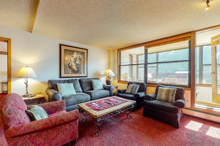 New listing! Spacious studio w/ sleeper sofa, sunroom, & mountain views!
