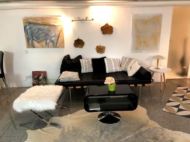 Hunde willkommen! 2-Zimmer Gäste-Suite in d. Natur