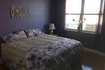 King pillow top mattress.